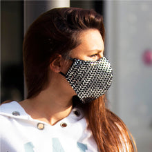Load image into Gallery viewer, Square Metallic Sequins face masks, washable face mask, reusable face masks, unisex face mask - BACCIO Couture