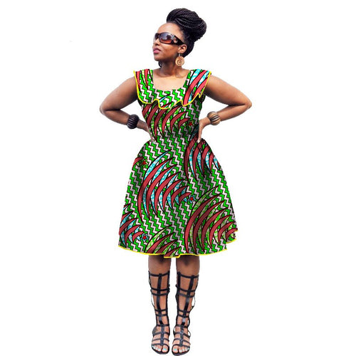African printed dresses Cotton wax printed cloth fabric African national costume supply