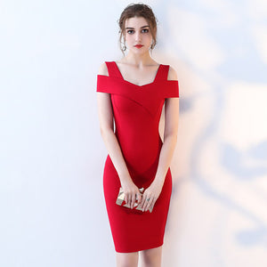 Summer Bandage design Wear To Work Office Fitted Bodycon Pencil Red  Dress