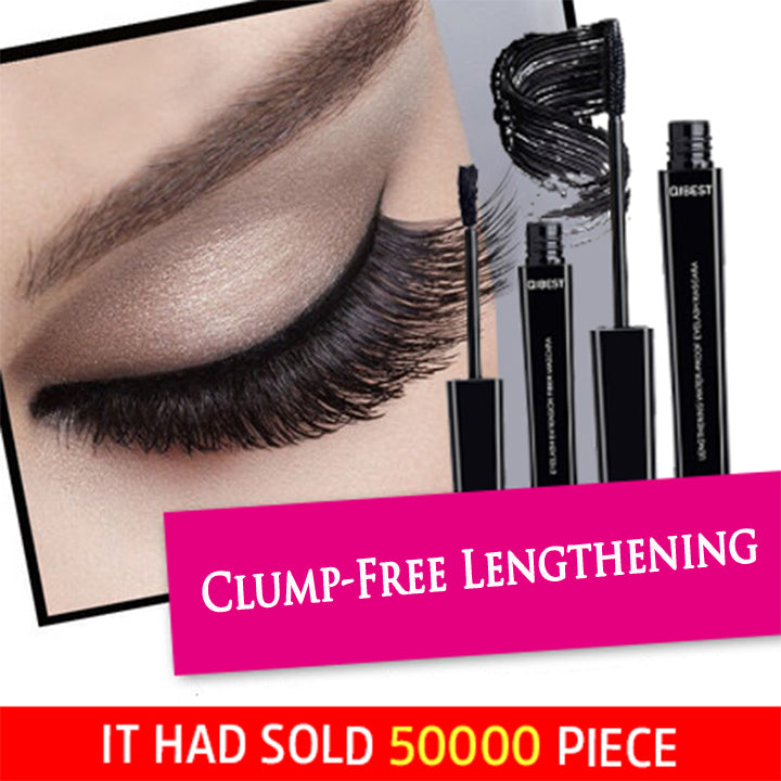 【2Pcs 】QIBEST 3D Waterproof Fiber Eyelash Mascara