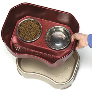 Pet Bowl / Stainless Steel Food Tray With Stand