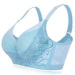 Embroidery Adjustable Gather Push Up Soft Breathable Bras