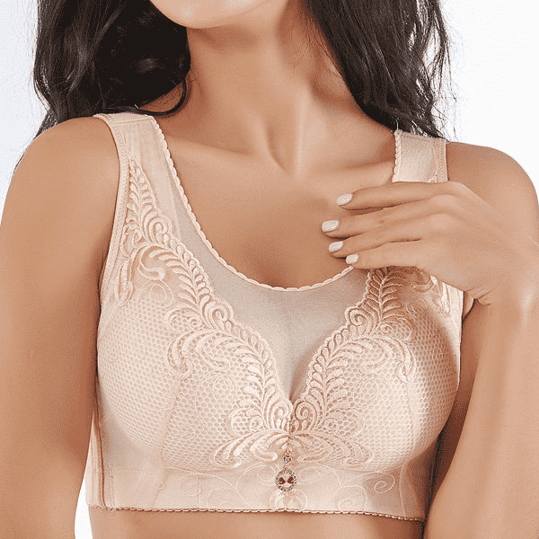 Embroidery Wireless Full Busted Anti Sagging Bras