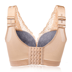 Sexy Deep V Gather Breathable Wireless Full Coverage Bras