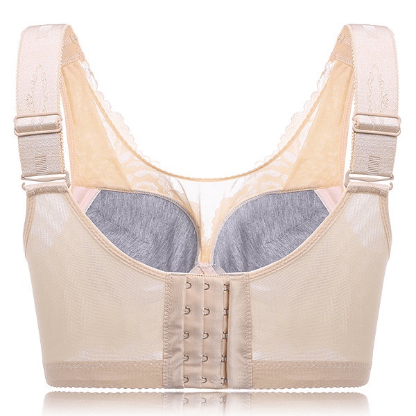 Sexy Lace Busty Full Coverage Wireless Gather Bando Bras