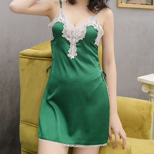 2019 Lace V-neck Sling Nightdress