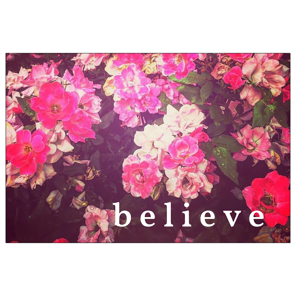 Night Roses + Believe Postcard