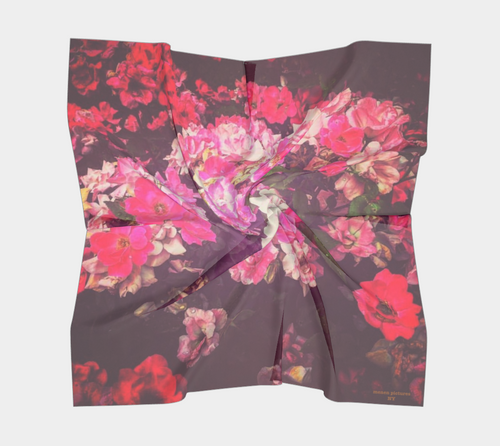 Night Roses Silk Scarf
