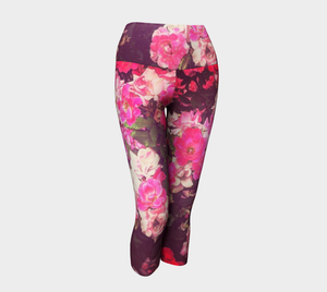 Night Roses Yoga Capris