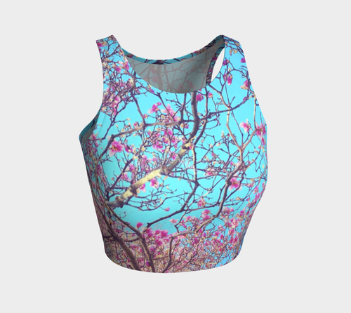 Pink Magnolias Athletic Crop Top