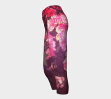 Night Roses Capri Leggings