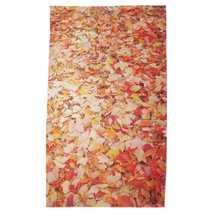 Feuilles Oranges Tea Towel