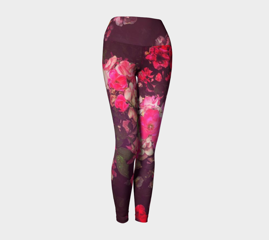 Night Roses Yoga Leggings