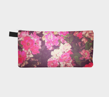 floral pencil case, pencil case with roses