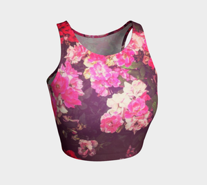 Night Roses Athletic Crop Top