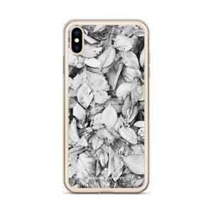 """Black & White Leaves"" iPhone Case"