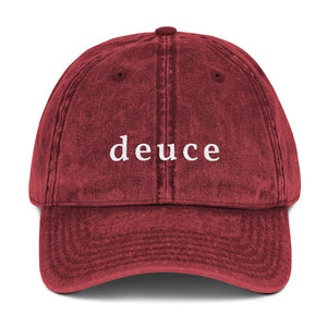 """Deuce"" Vintage Cotton Twill Hats (various colors)"