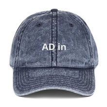 """AD in"" Vintage Cotton Twill Cap (various colors)"