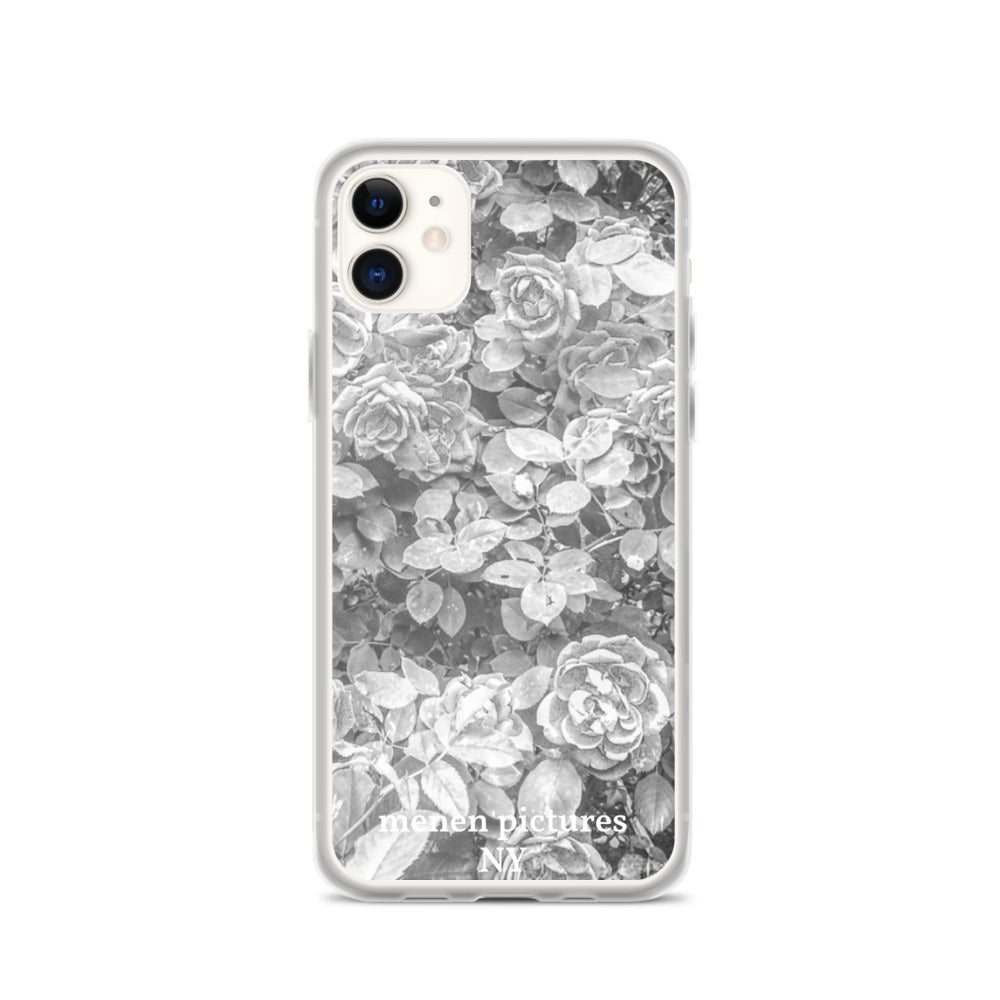 Roses en Noir et Blanc iPhone Case