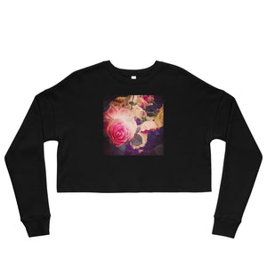 Roses Crop Sweatshirt