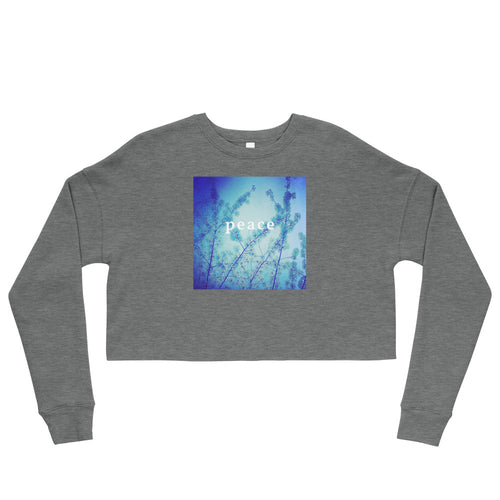 Blue Spring + Peace Crop Sweatshirt