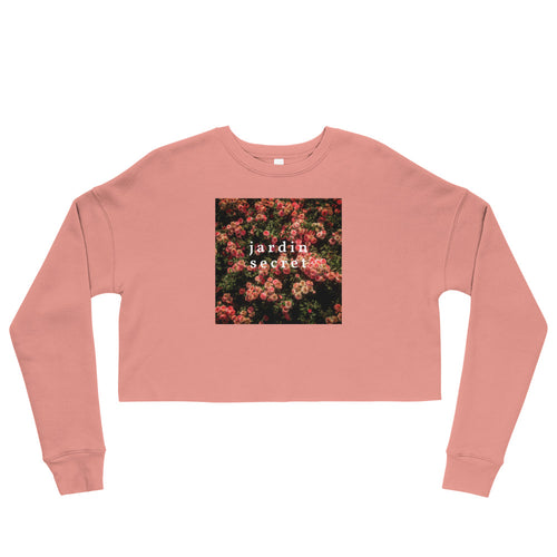 Rose Garden + Jardin Secret Crop Sweatshirt