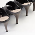 Stilaré Desire Stiletto Mules in Black - Stilaré