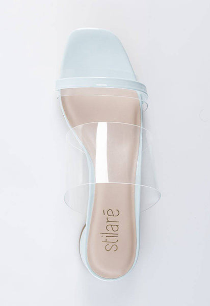 Stella Transparent Sandals in Baby Blue