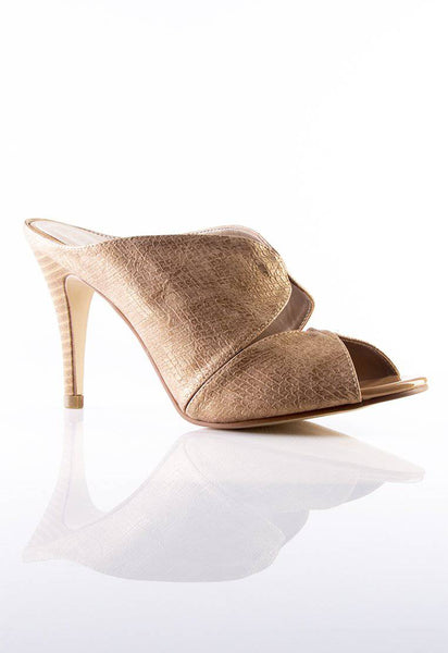 Desire Stiletto Mules in Beige