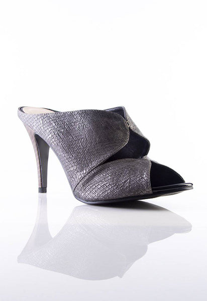 Desire Stiletto Mules in Grey