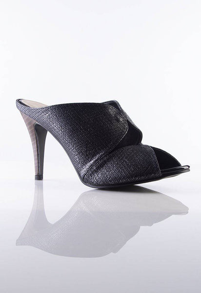 Desire Stiletto Mules in Black