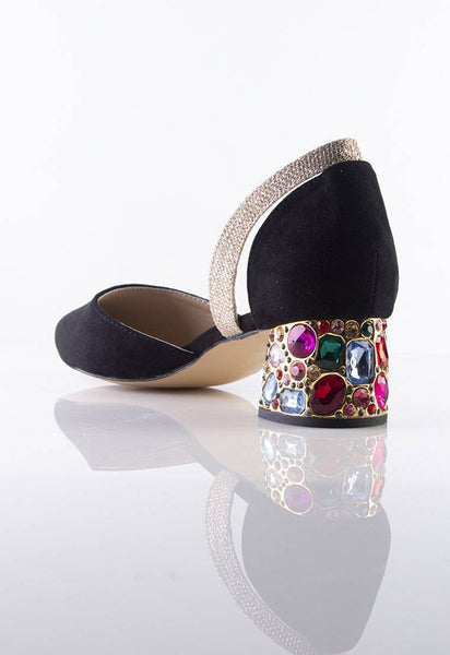 Stilaré La Dolce Vita Embellished Mules in Black - Stilaré