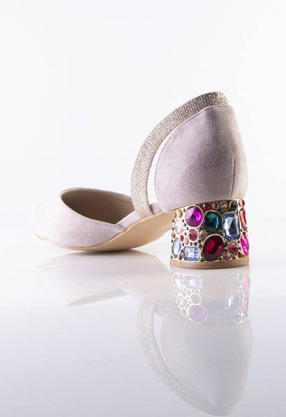 Stilaré La Dolce Vita Embellished Mules in Dusty Purple - Stilaré