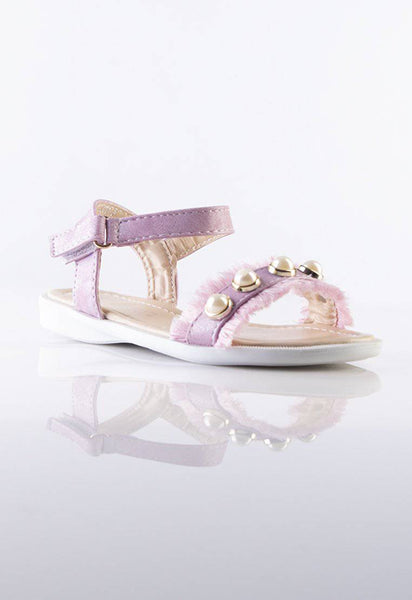 Stilaré Bella Pink Kids Sandals with Pearls - Stilaré