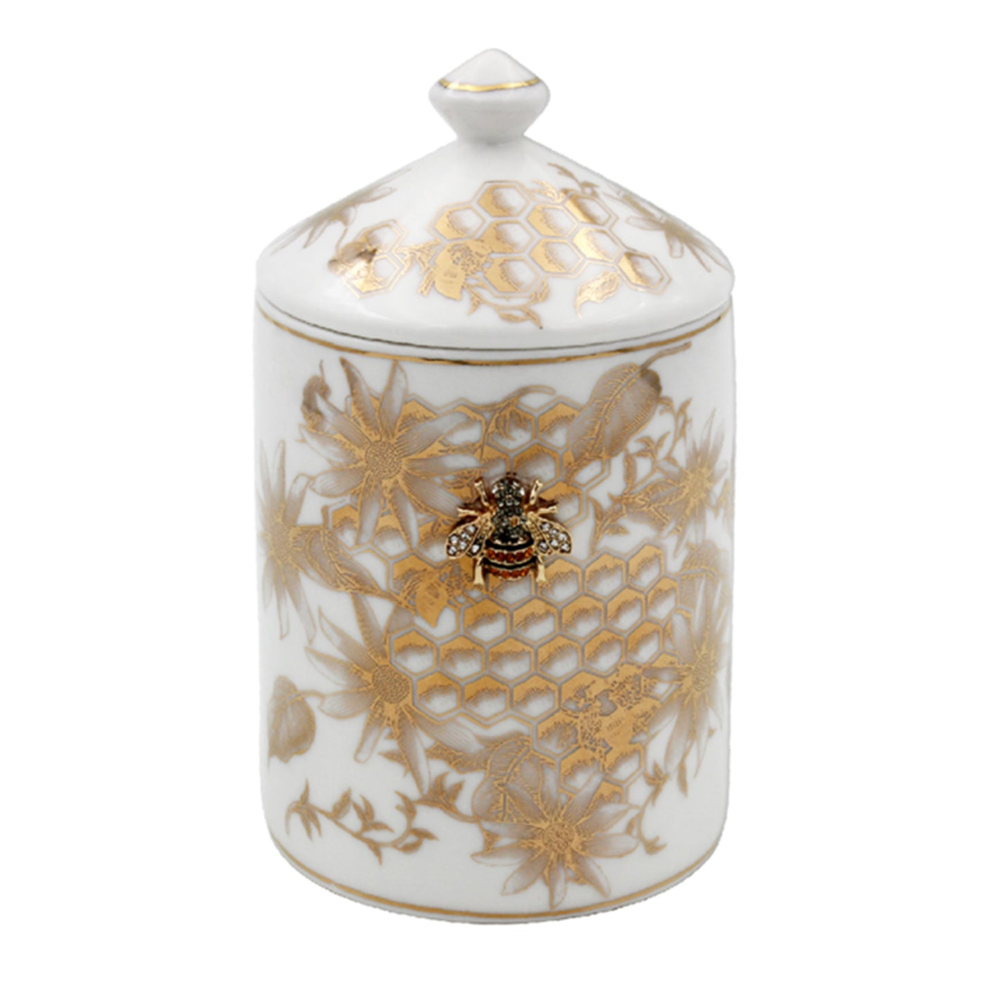 Honeycomb Bee Scented Candle - Floral Honey