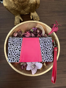Nephele Animal Print Pouch Bag