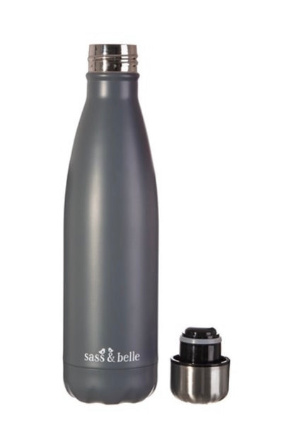 Grey Stainless Steel Drinking Bottle