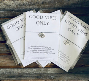 """Good Vibes Only"" Message Bracelet"
