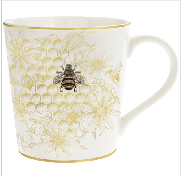Honeycomb Bee Mug