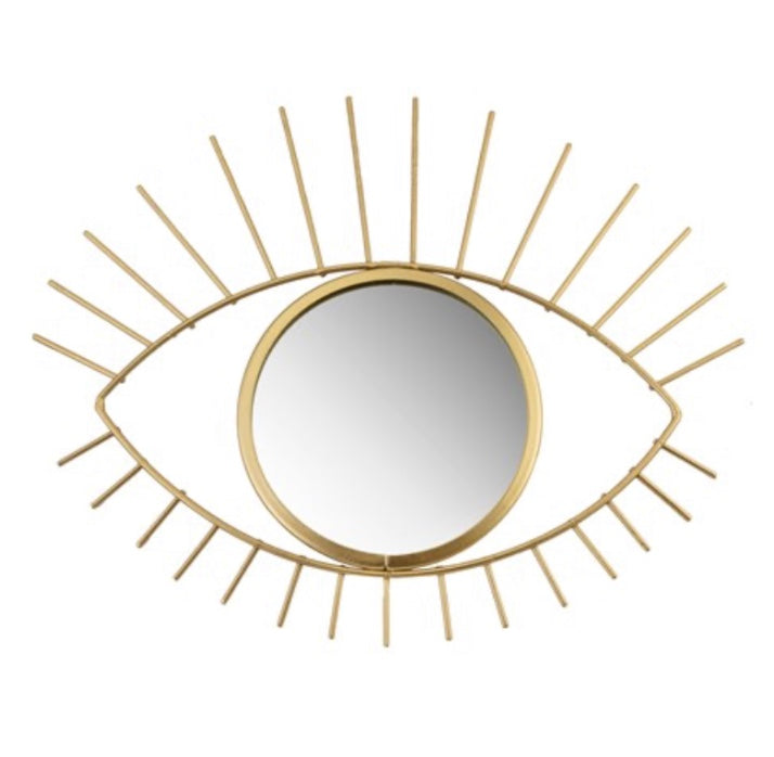 GOLD TRIBAL EYE SEE YOU MIRROR