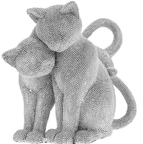 Diamante Pair Of Cats Statue