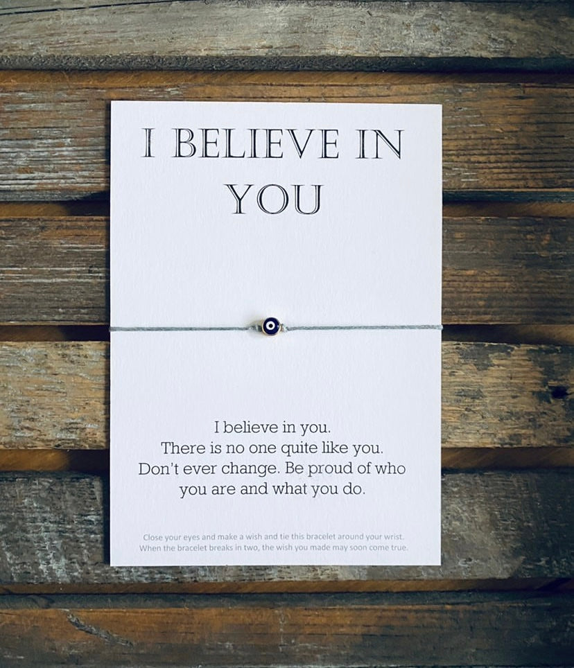 """I Believe In You"" Message Bracelet"
