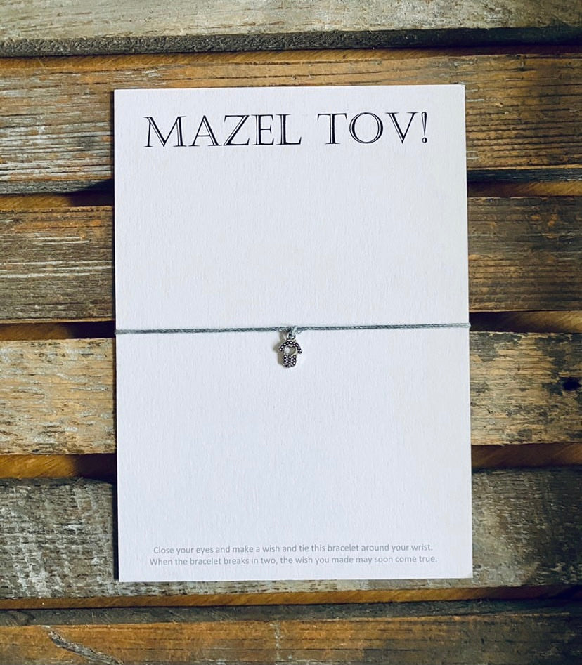 """Mazel Tov"" Message Bracelet"