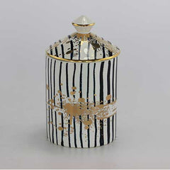 Striped Candle - Patchouli and Rose