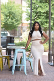 Twisted Two Piece Skirt Set