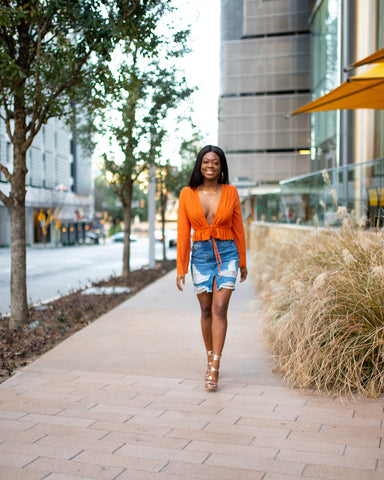 Orange You Glad Tie Top