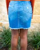 Tear It Up Denim Skirt