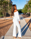 Light Blue Split Flare Pants