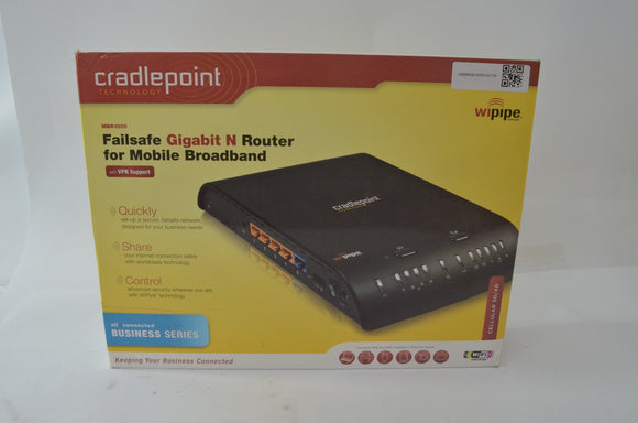 Cradlepoint MBR1200 Gigabit N Router with Box and Accessories