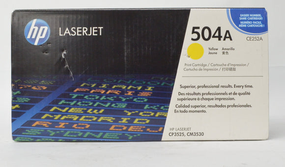 HP 504A Yellow CE252A LaserJet Toner Cartridge